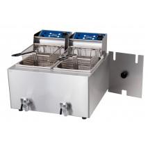 Birko Fryer - Double 8L- w/tap 2x15amp